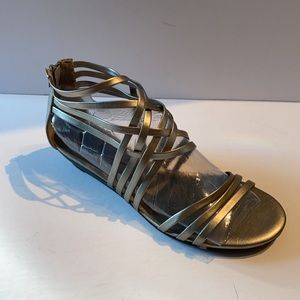 8- Platinum Low Wedge Strappy Sandal...like New!!!